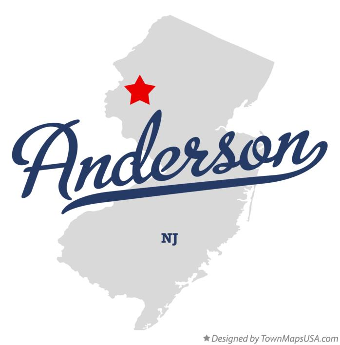 Map of Anderson New Jersey NJ