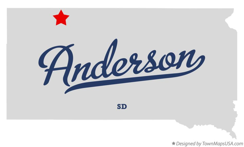 Map of Anderson South Dakota SD