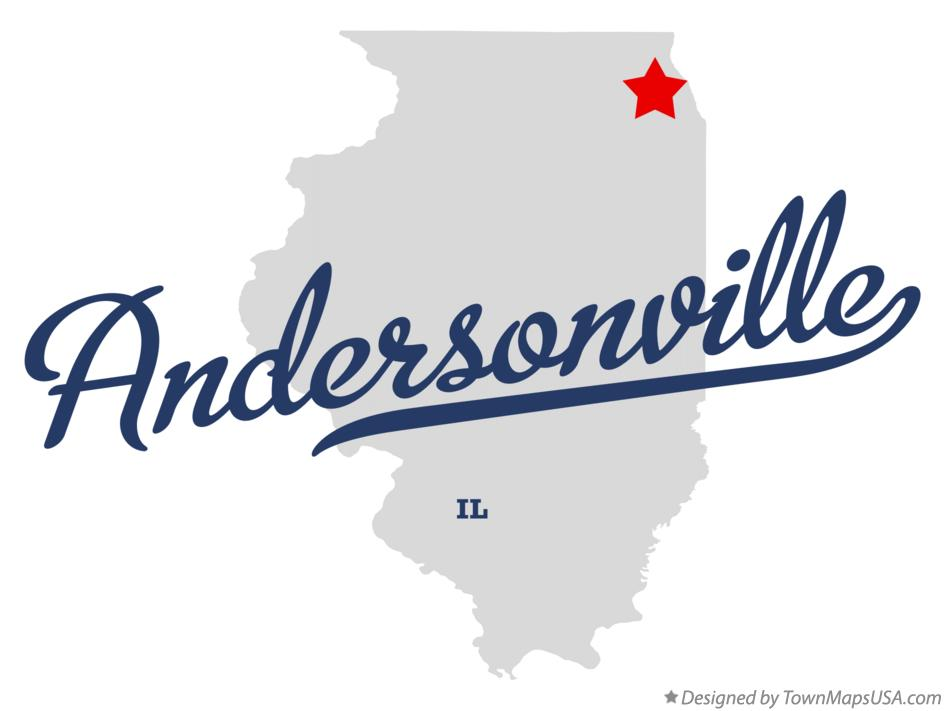 Map of Andersonville Illinois IL