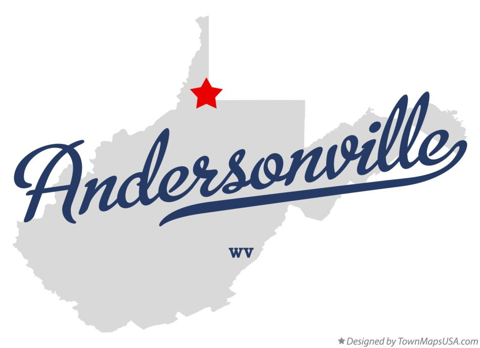 Map of Andersonville West Virginia WV