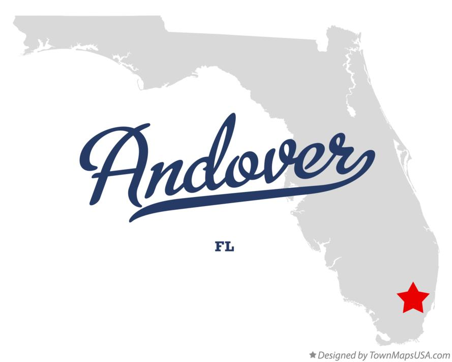 Map of Andover Florida FL