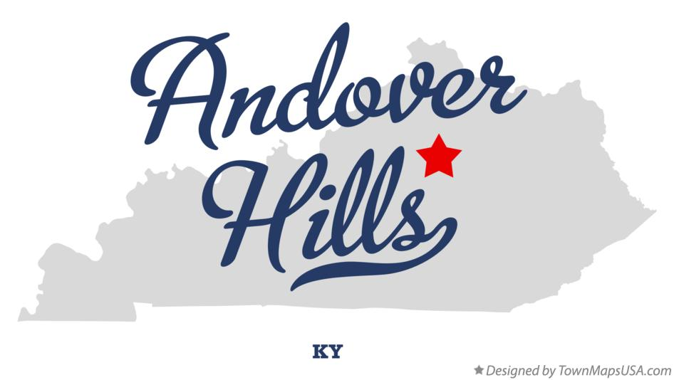 Map of Andover Hills Kentucky KY