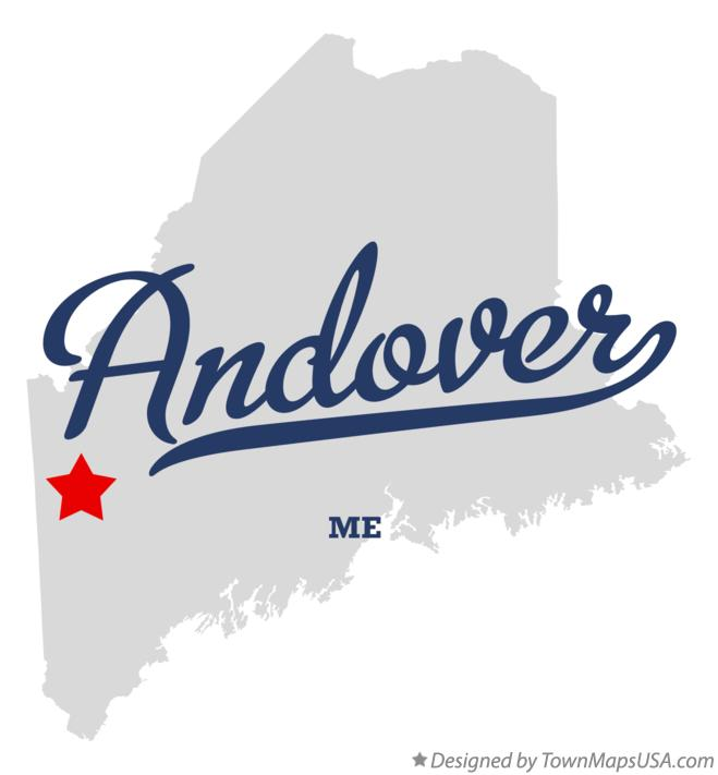 Map of Andover Maine ME