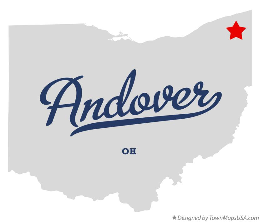 Map of Andover Ohio OH