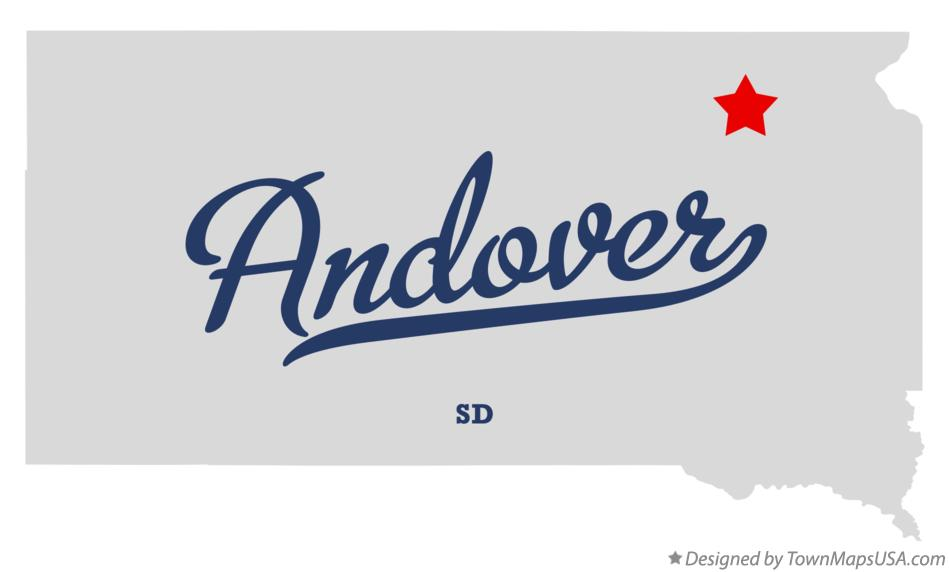 Map of Andover South Dakota SD
