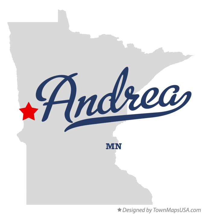 Map of Andrea Minnesota MN