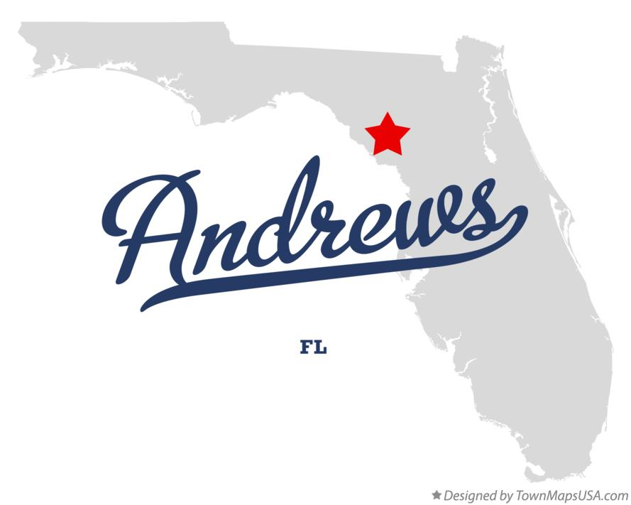 Map of Andrews Florida FL