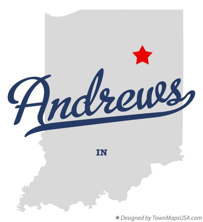 Map of Andrews Indiana IN
