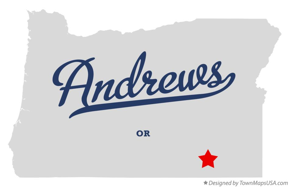 Map of Andrews Oregon OR