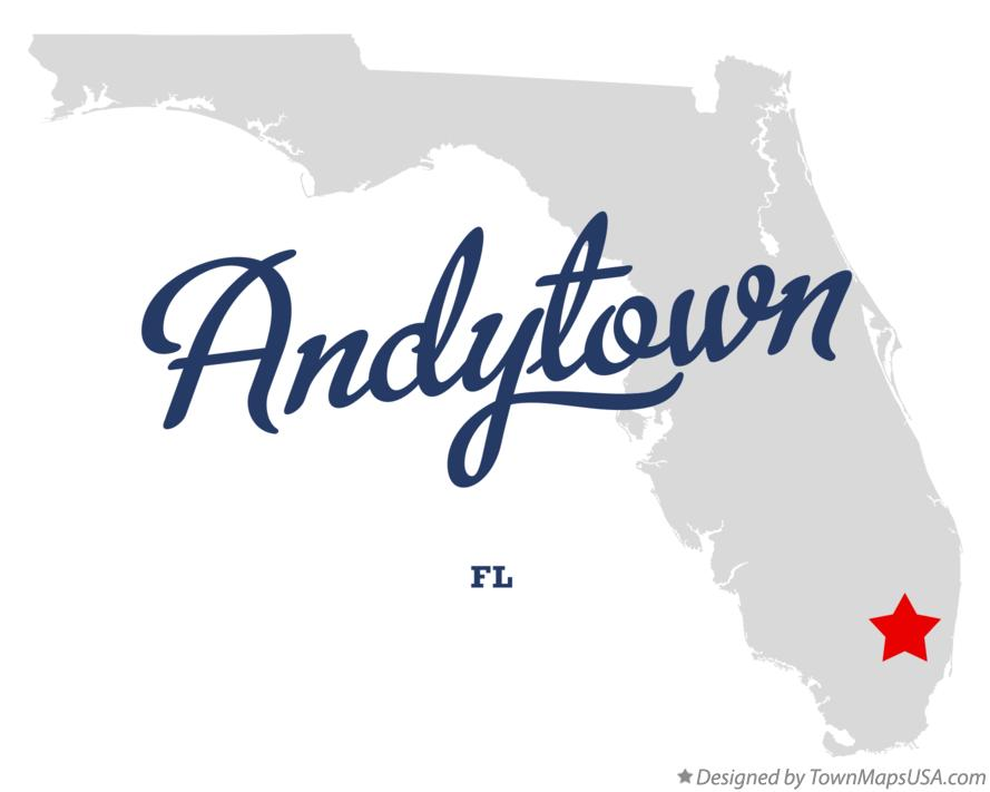 Map of Andytown Florida FL