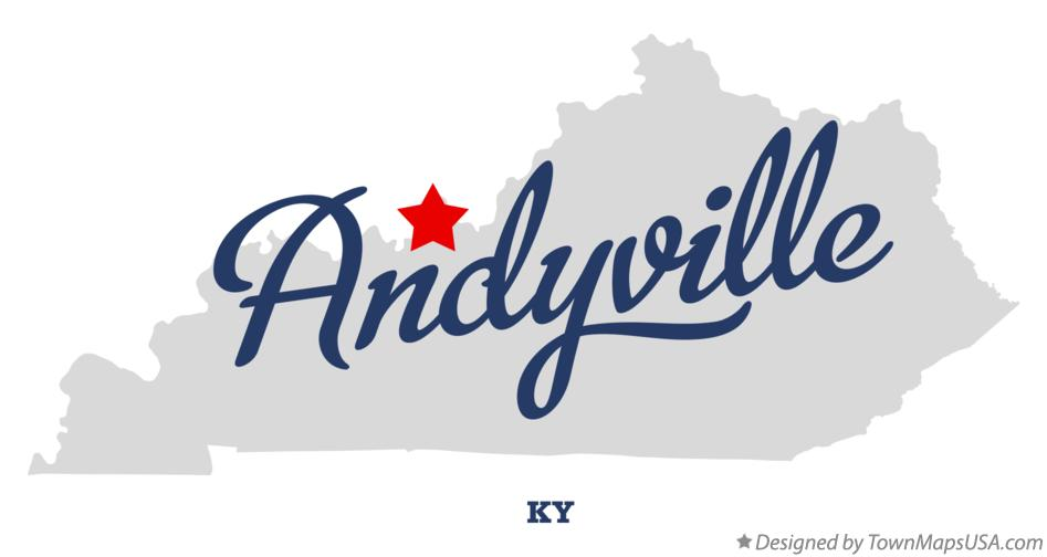 Map of Andyville Kentucky KY