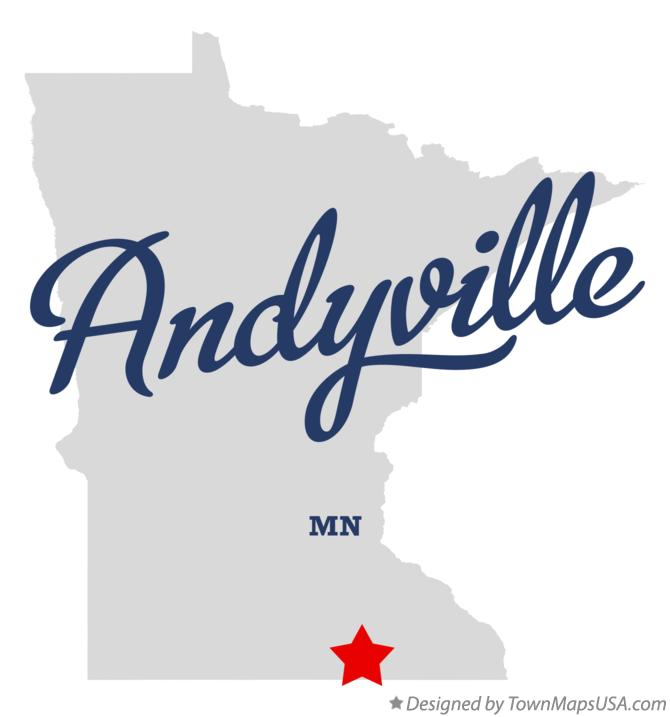 Map of Andyville Minnesota MN