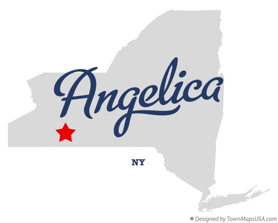 Map of Angelica New York NY