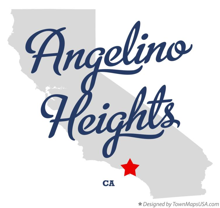 Map of Angelino Heights California CA