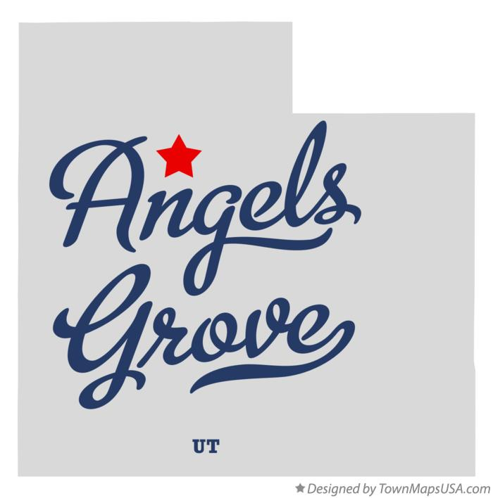 Map of Angels Grove Utah UT