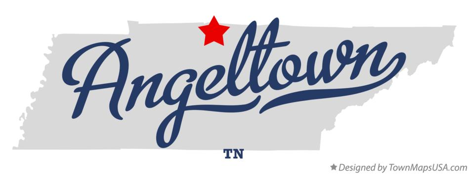 Map of Angeltown Tennessee TN