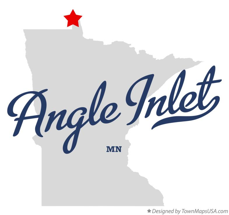 Map of Angle Inlet Minnesota MN