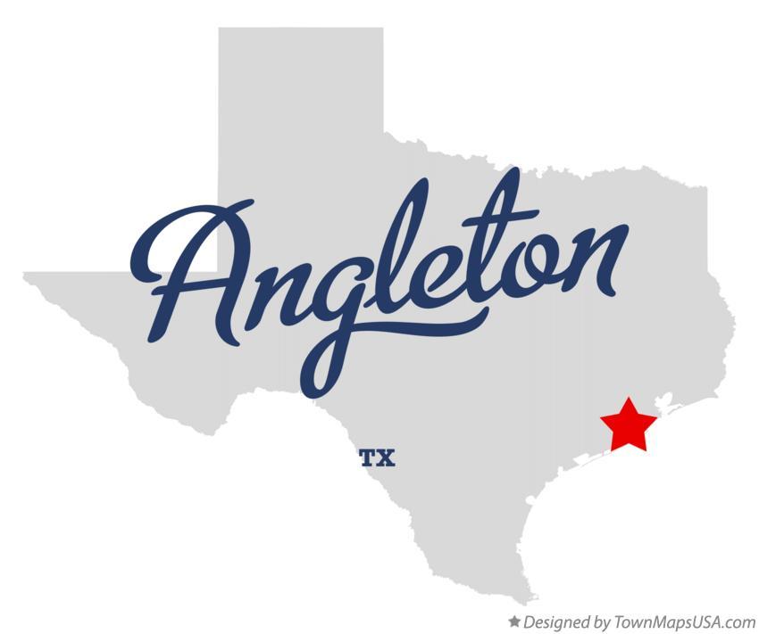 Map Of Angleton Texas