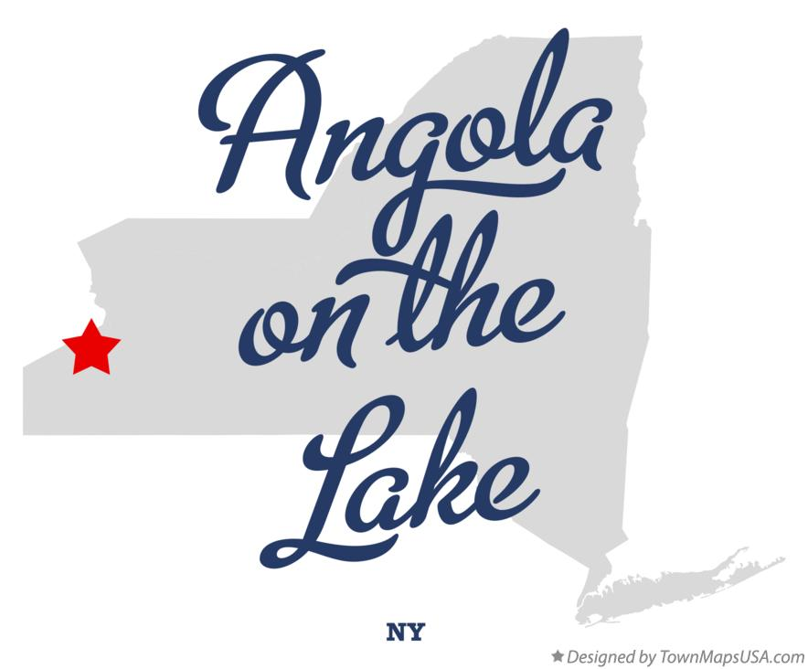 Map of Angola on the Lake New York NY