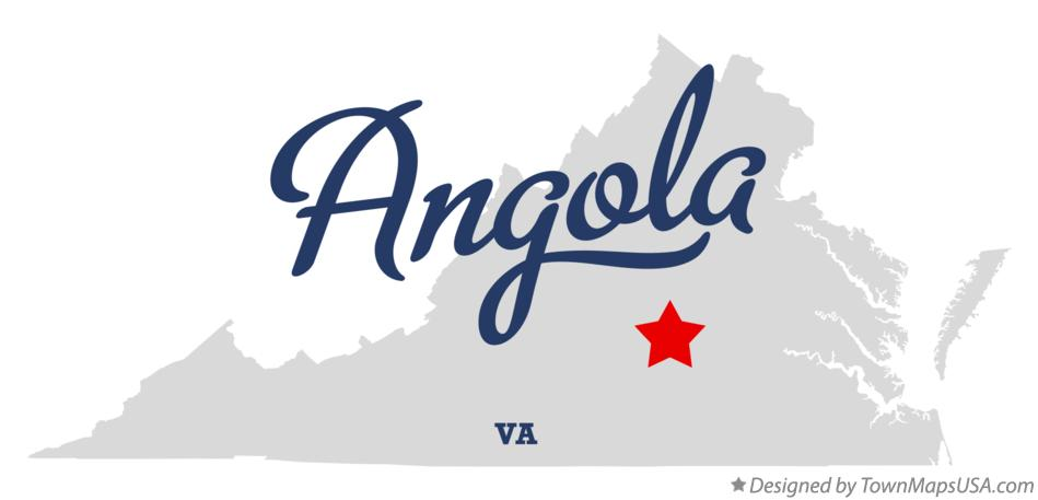 Map of Angola Virginia VA