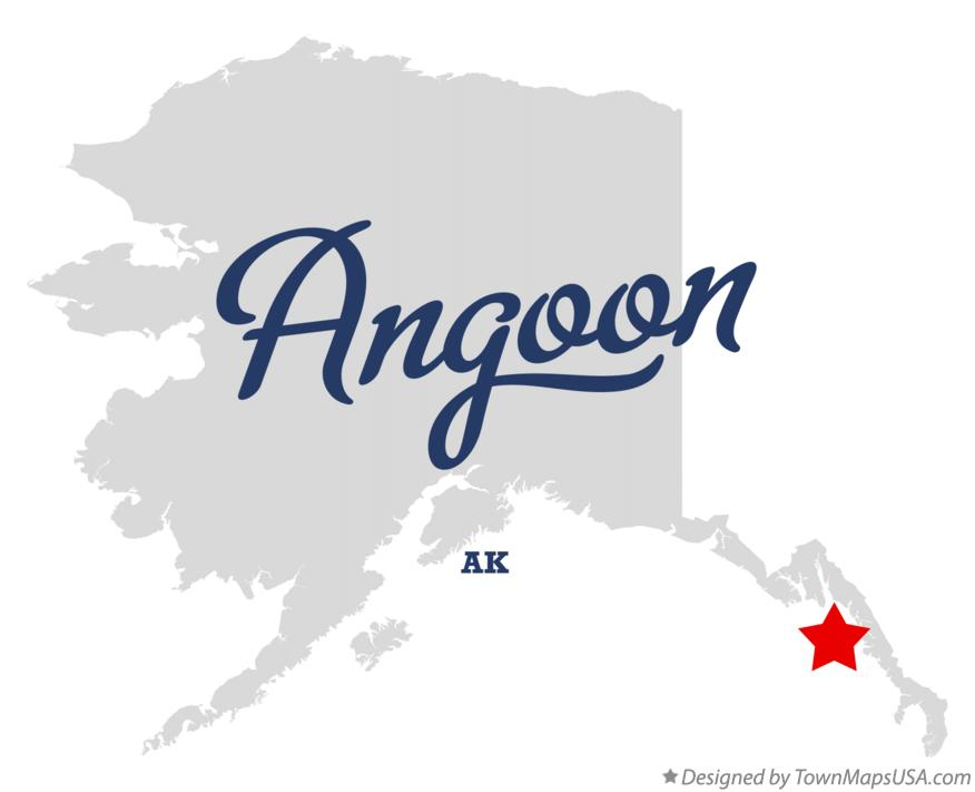 Map of Angoon Alaska AK