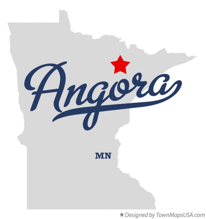 Map of Angora Minnesota MN