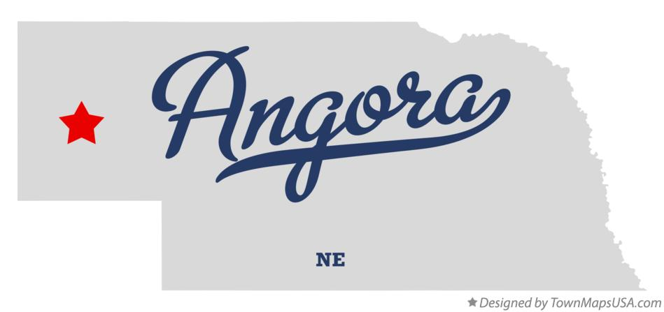 Map of Angora Nebraska NE