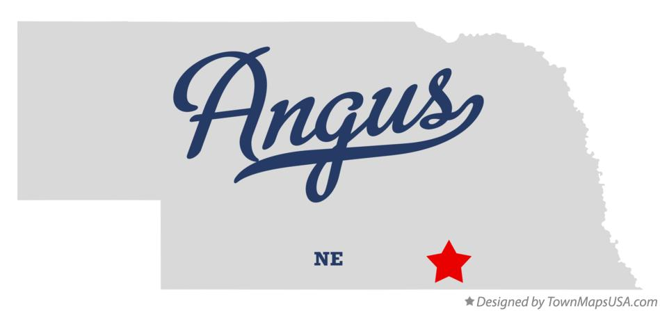 Map of Angus Nebraska NE