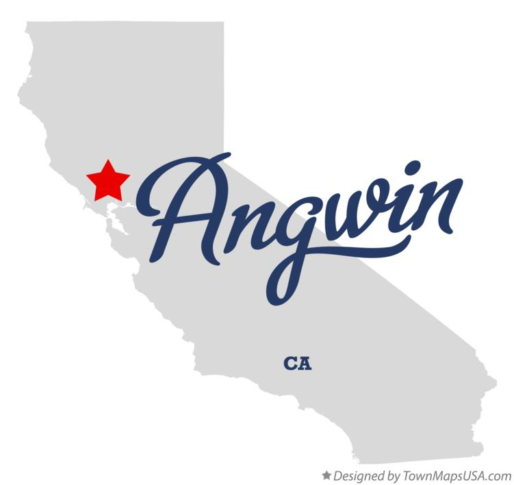 Map of Angwin California CA