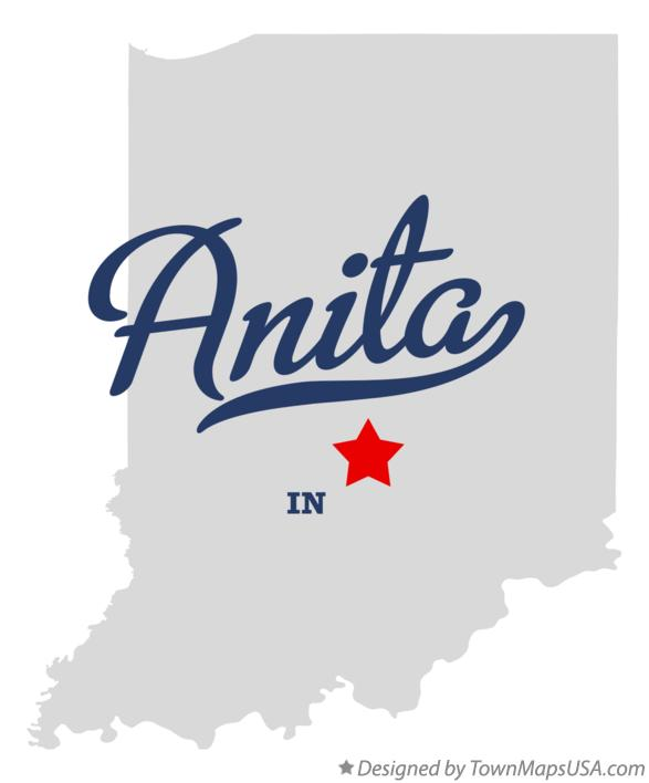 Map of Anita Indiana IN