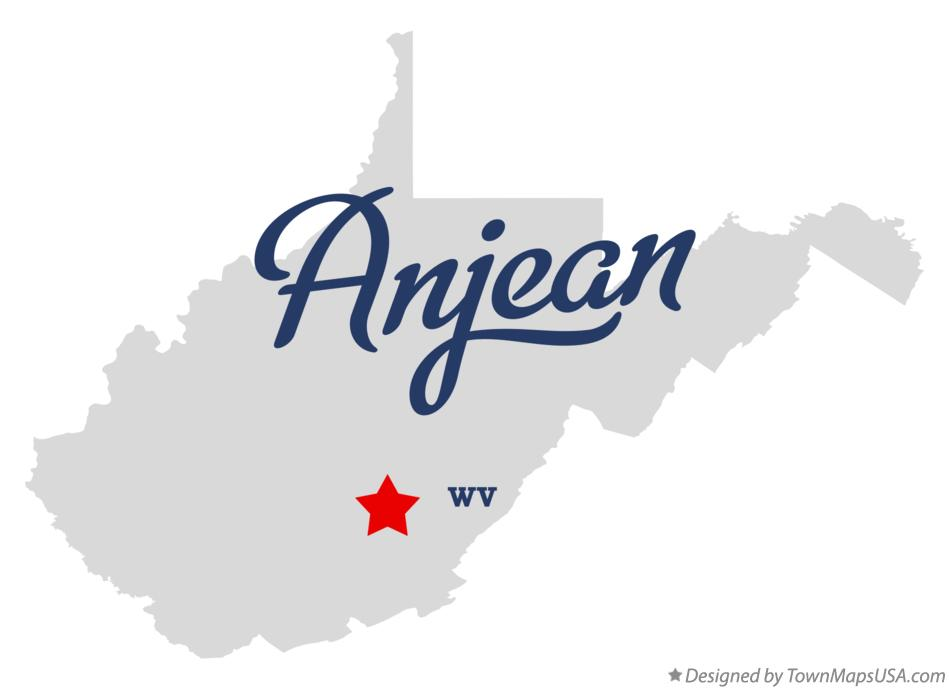 Map of Anjean West Virginia WV
