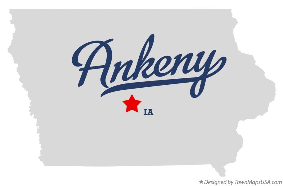 Map of Ankeny Iowa IA