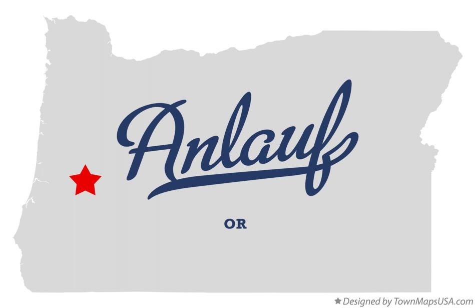 Map of Anlauf Oregon OR