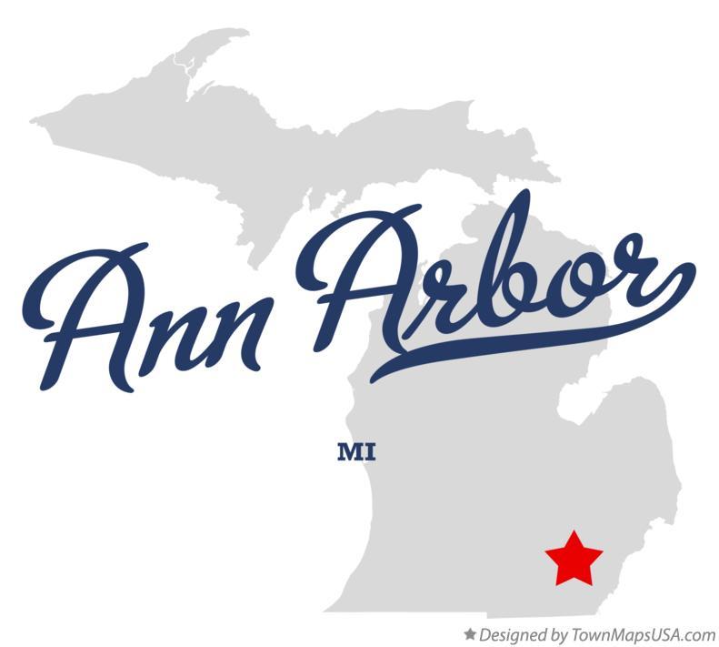 Map Of Ann Arbor MI Michigan - Ann arbor map