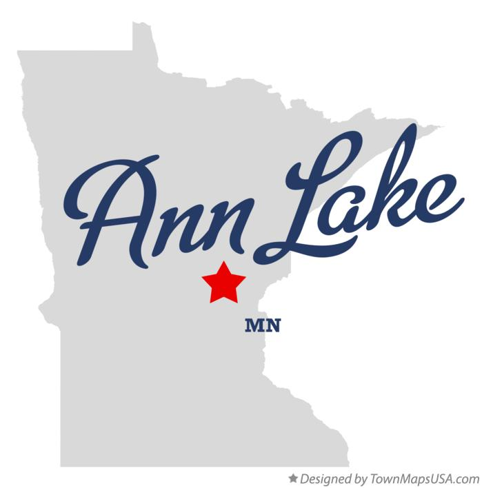 Map of Ann Lake Minnesota MN