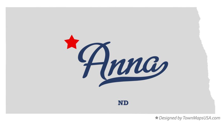 Map of Anna North Dakota ND