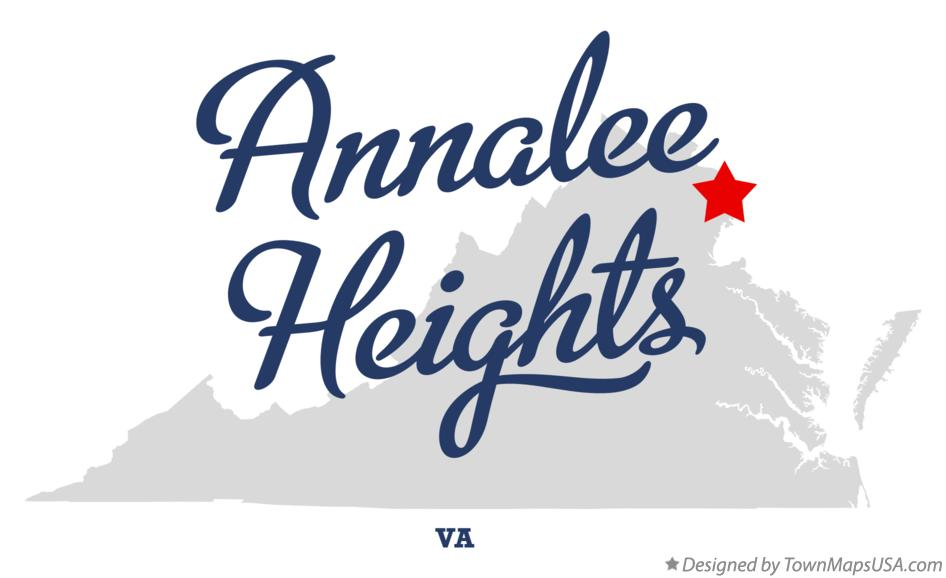 Map of Annalee Heights Virginia VA
