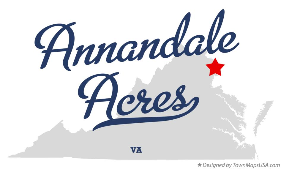 Map of Annandale Acres Virginia VA