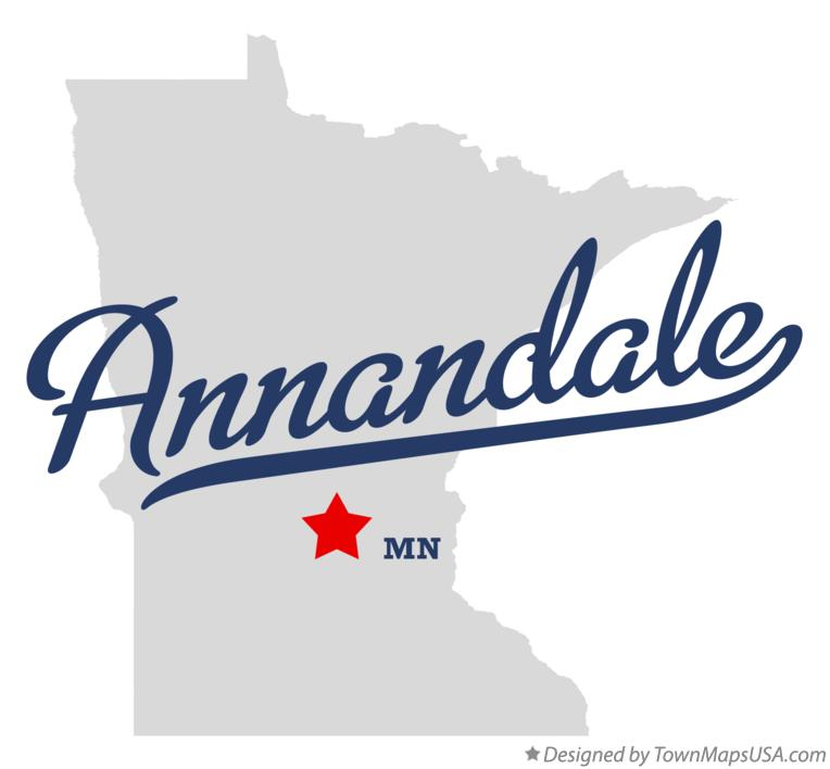 Map of Annandale Minnesota MN