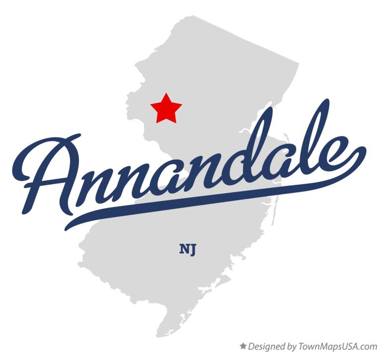 Map of Annandale New Jersey NJ