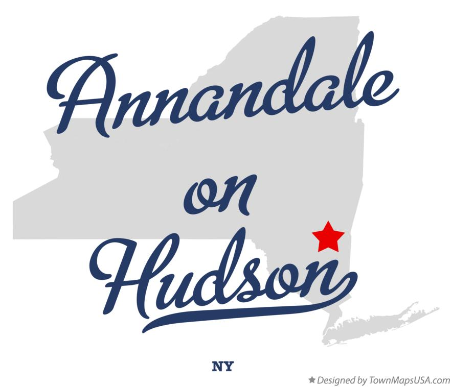 Map of Annandale-on-Hudson New York NY