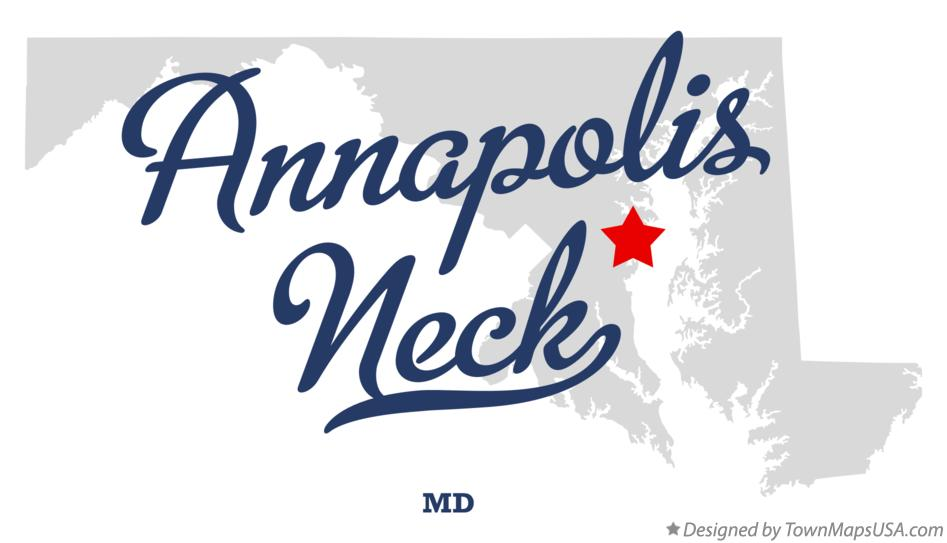 Map of Annapolis Neck Maryland MD