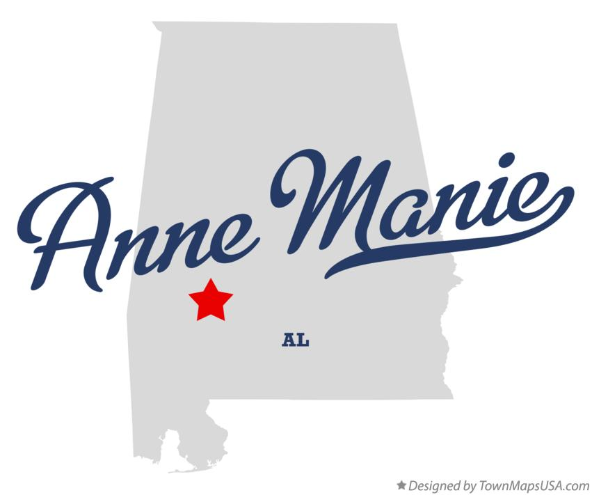 Map of Anne Manie Alabama AL