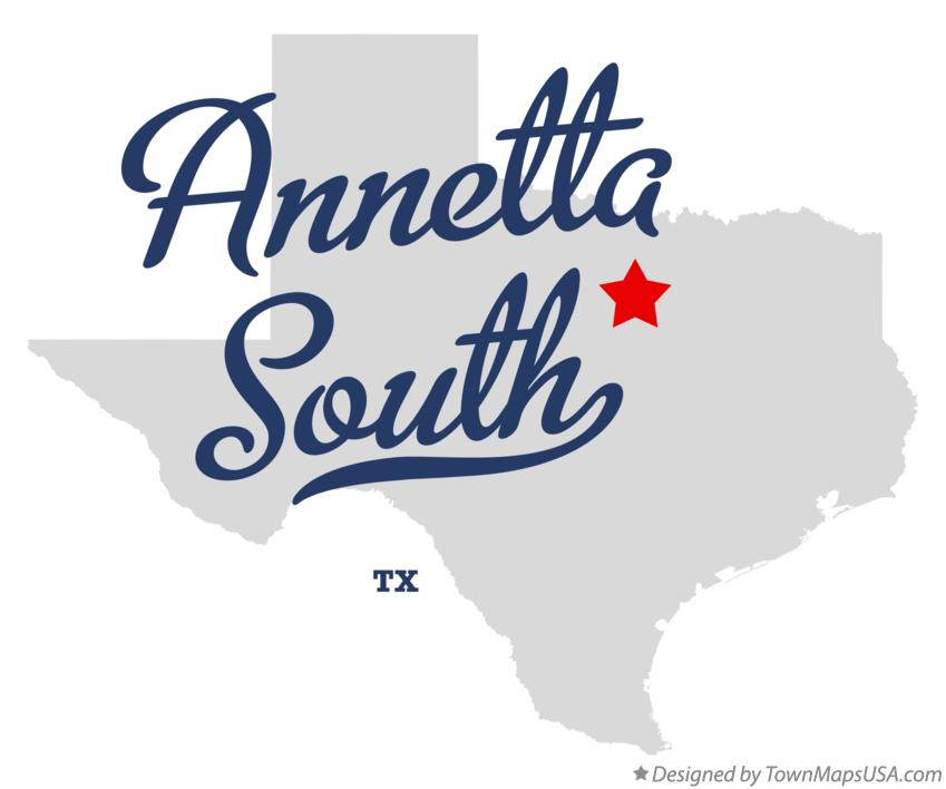 Map of Annetta South Texas TX