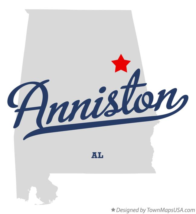 Map of Anniston Alabama AL