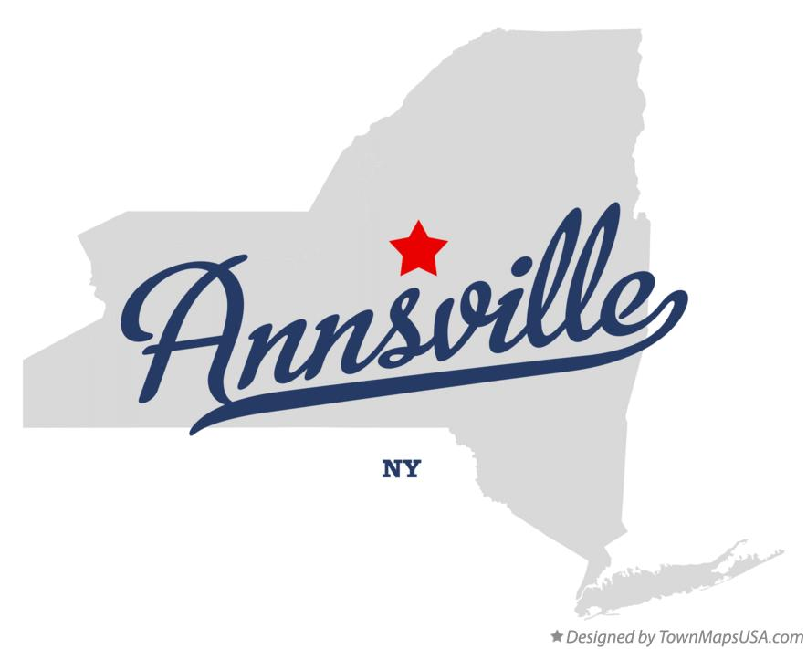 Map of Annsville New York NY