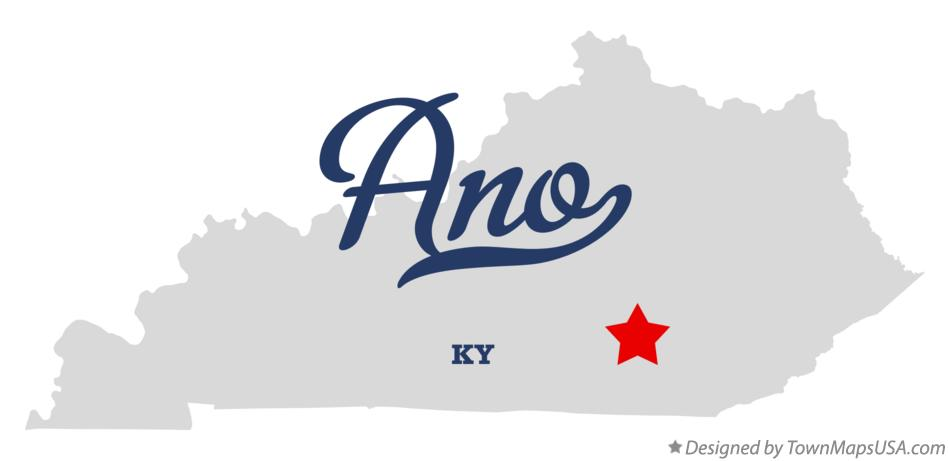 Map of Ano Kentucky KY