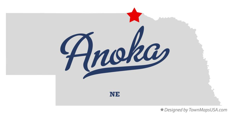 Map of Anoka Nebraska NE