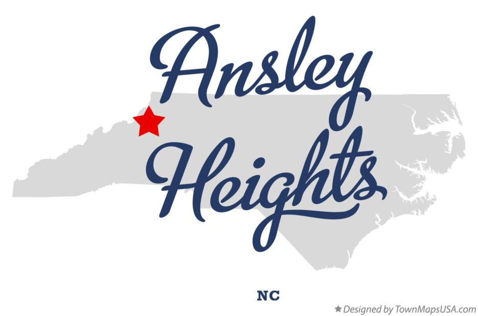 Map of Ansley Heights North Carolina NC