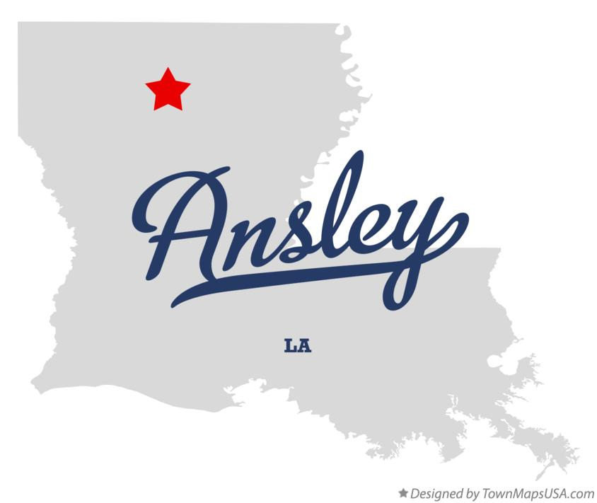 Map of Ansley Louisiana LA